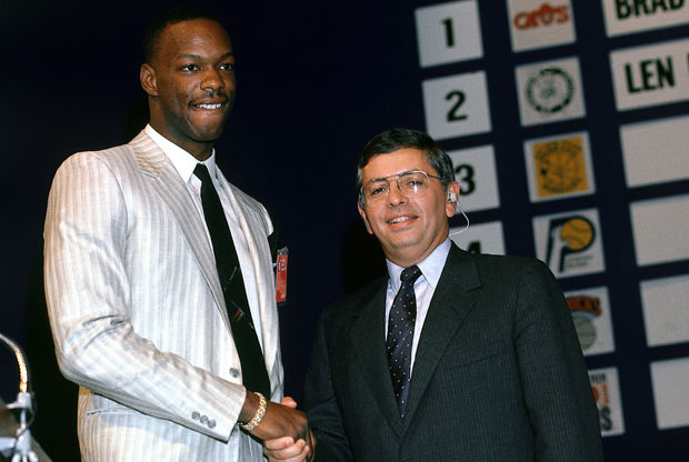 Len Bias y David Stern./ Getty Images