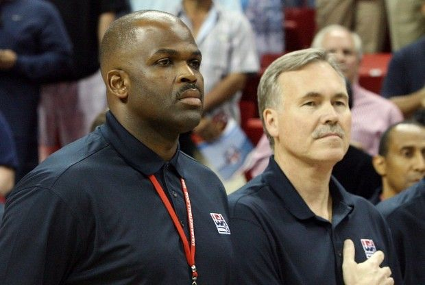 Nate McMillan y Mike D'Antoni./ Getty Images