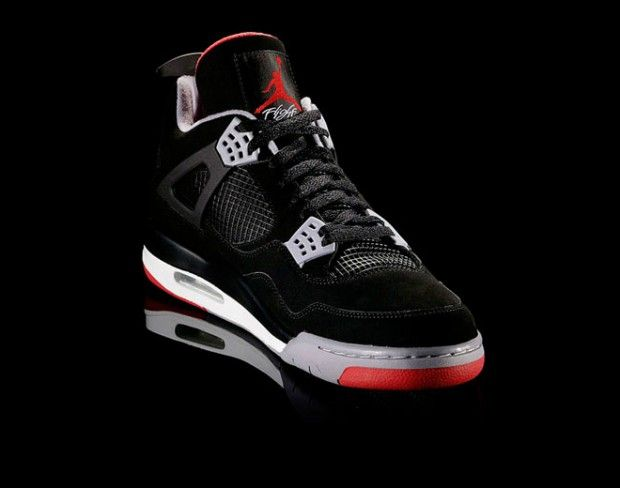 Air Jordan 4 Retro 'Black, Cement Grey & Fire Red'