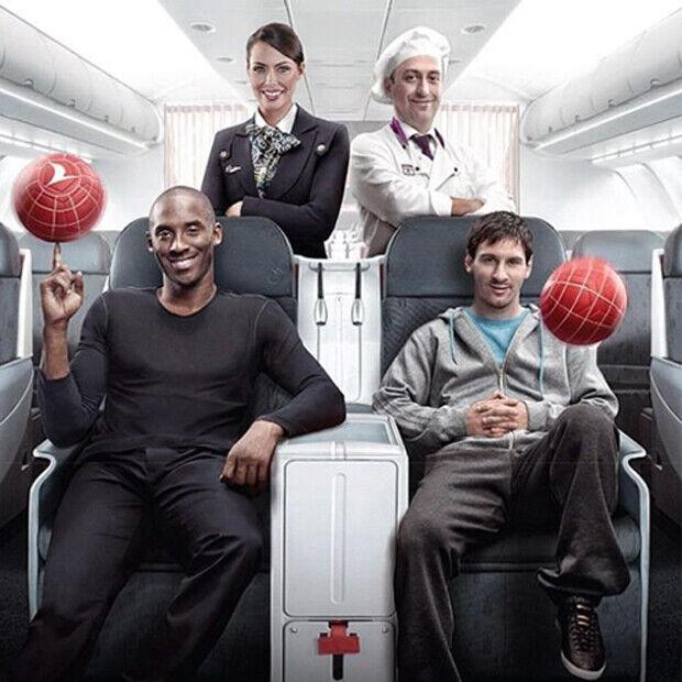Kobe Bryant y Leo Messi forman la nueva imagen de Turkish Airlines