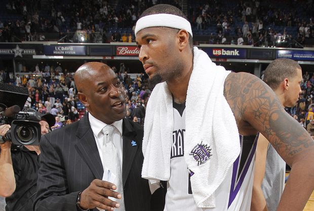 Keith Smart y DeMarcus Cousins./ Getty Images