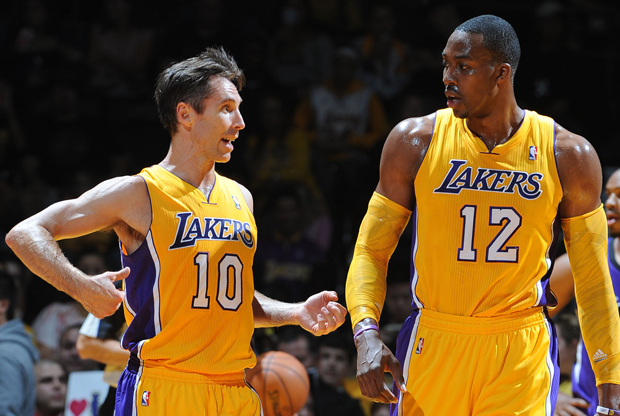 Dwight Howard y Steve Nash./ Getty Images