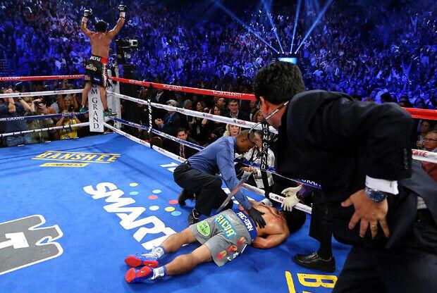 Manny Pacquiao v Juan Manuel Marquez./ Getty Images