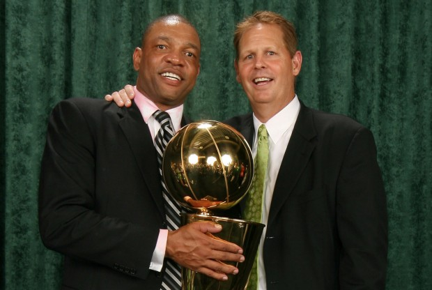 Doc Rivers y Danny Ainge./ Getty Images