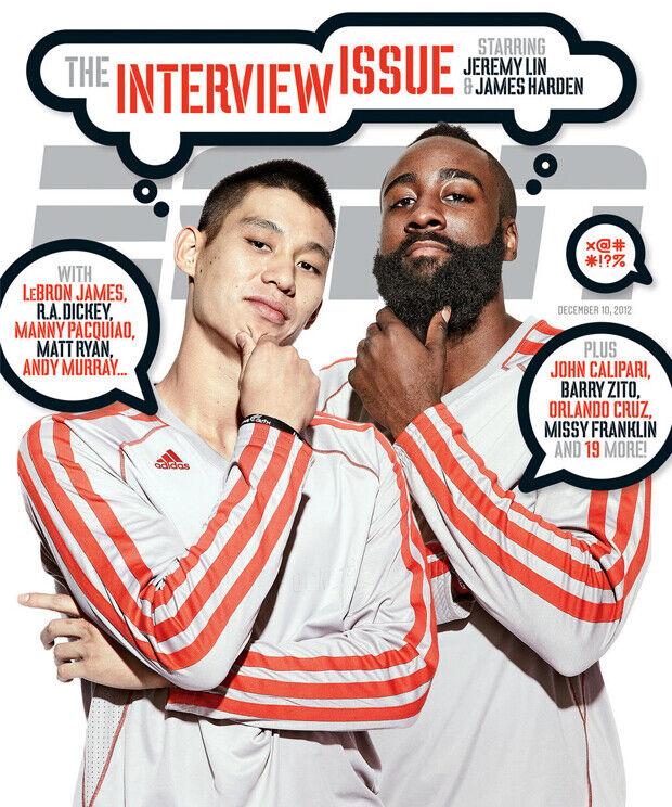 James Harden y Jeremy Lin son portada de ESPN Magazine