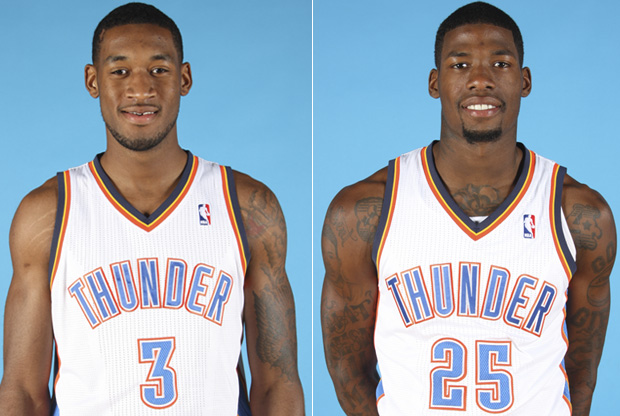 Perry Jones y DeAndre Liggins./ Getty Images