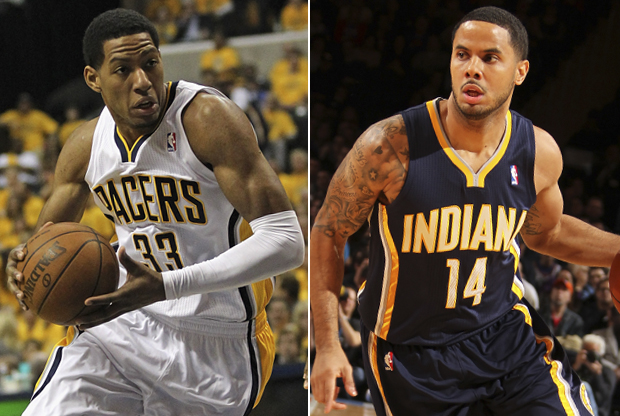 Danny Granger y D.J. Augustin./ Getty Images