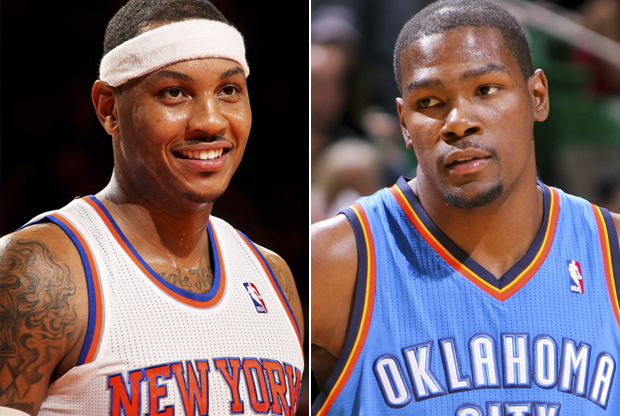 Carmelo Anthony y Kevin Durant./ Getty Images