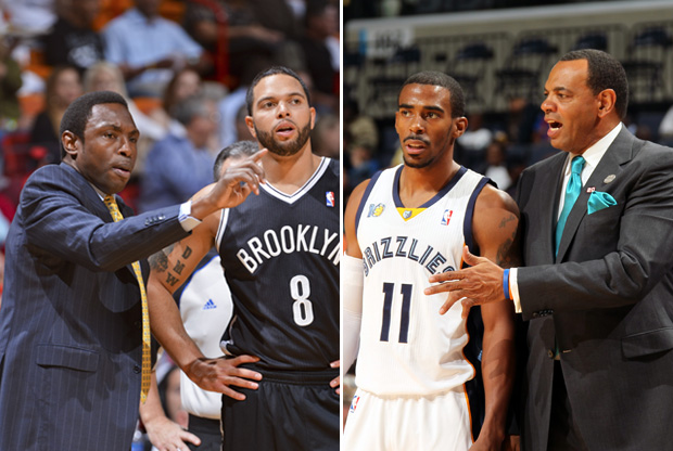 Avery Johnson y Lionel Hollins./ Getty Images