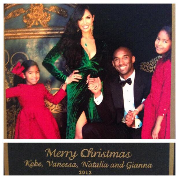 Kobe y su familia os desean feliz Navidad