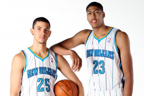 Austin Rivers y Anthony Davis./ Getty Images