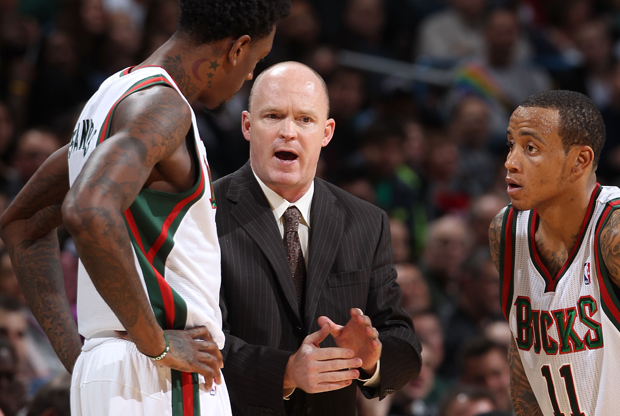 Larry Sanders, Scott Skiles y Monta Ellis./ Getty Images