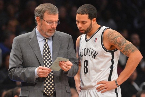 Deron Williams y P.J. Carlesimo./ Getty Images