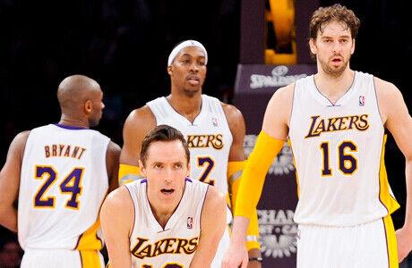 Kobe Bryant, Steve Nash, Dwight Howard y Pau Gasol./ Getty Images