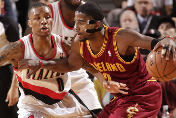 Damian Lillard y Kyrie Irving./ Getty Images