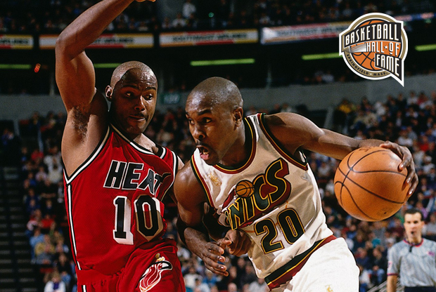Tim Hardaway y Gary Payton./ Getty Images