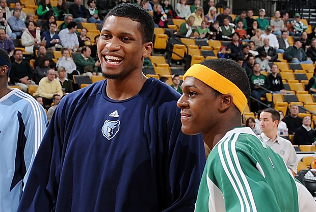 Rudy Gay y Rajon Rondo./ Getty Images