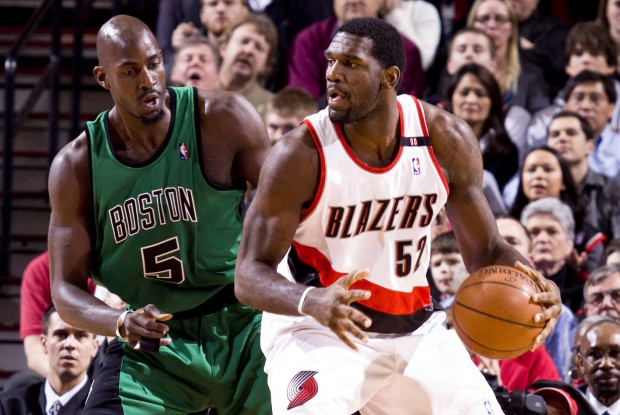 Kevin Garnett y Greg Oden./ Getty Images
