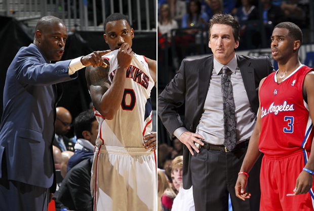 Larry Drew y Vinny Del Negro./ Getty Images