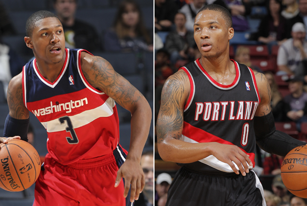 Bradley Beal y Damian Lillard./ Getty Images