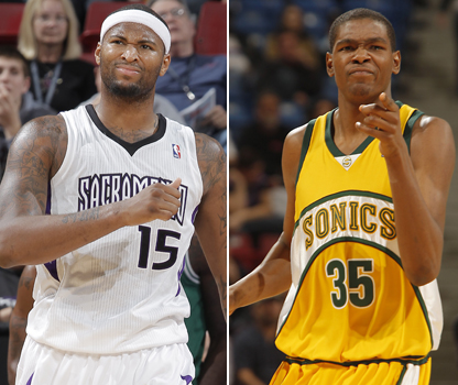 DeMarcus Cousins y Kevin Durant./ Getty Images