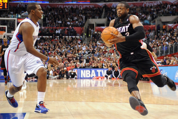 Dwyane Wade y Chris Paul./ Getty Images