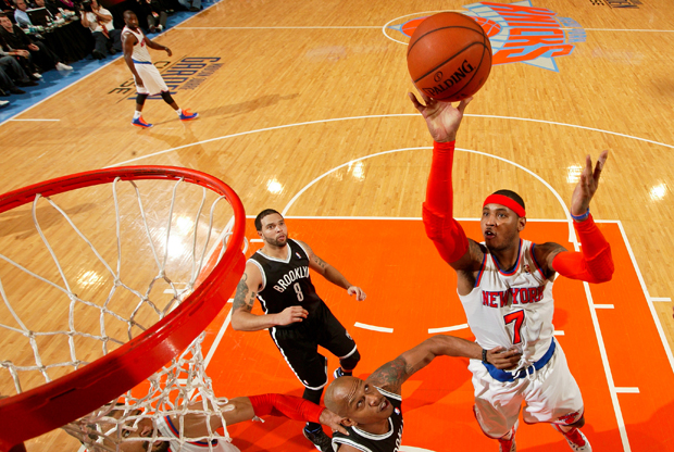Carmelo Anthony vs. Brooklyn Nets./ Getty Images