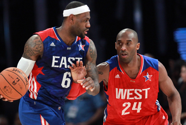 LeBron James y Kobe Bryant./ Getty Images