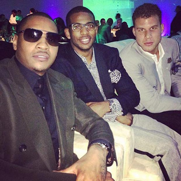 Carmelo Anthony, Chris Paul y Blake Griffin