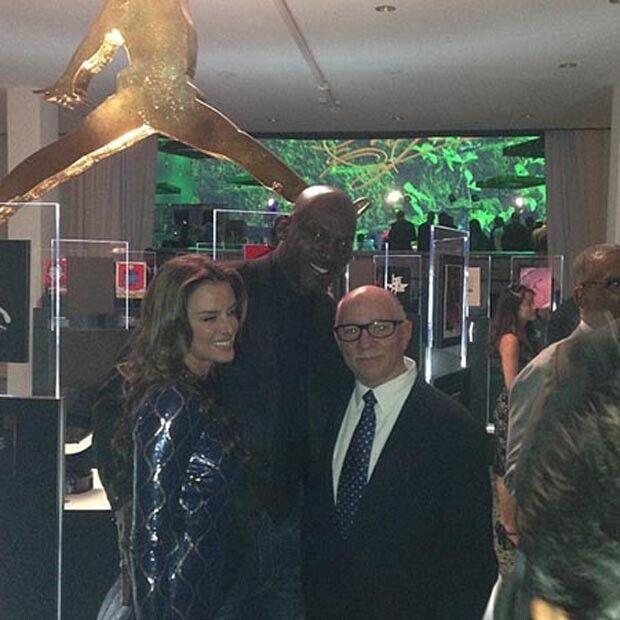 Michael Jordan y Yvette Prieto