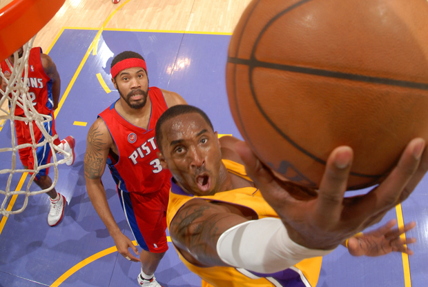 Kobe Bryant y Rasheed Wallace./ Getty Images