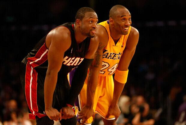 Dwyane Wade y Kobe Bryant./ Getty Images