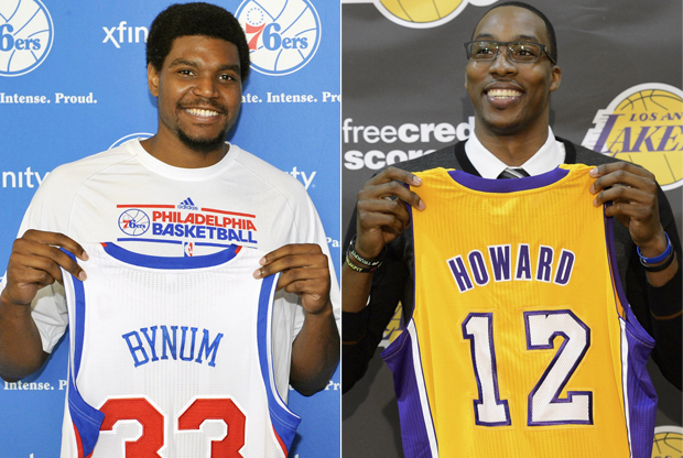 Andrew Bynum y Dwight Howard./ Getty Images