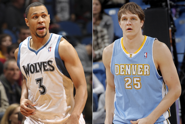 Brandon Roy y Timofey Mozgov./ Getty Images
