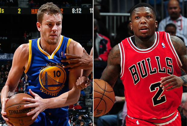 David Lee y Nate Robinson./ Getty Images