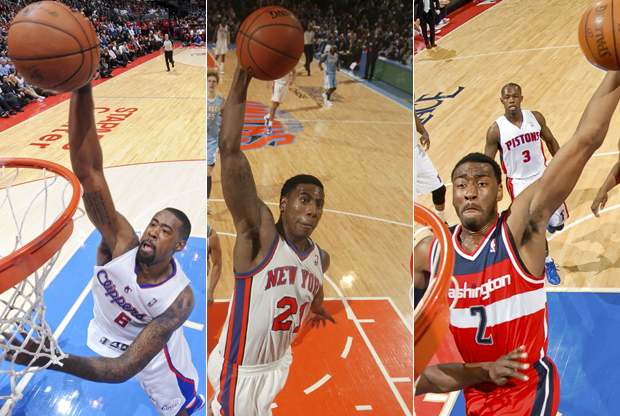 DeAndre Jordan, Iman Shumpert y John Wall./ Getty Images