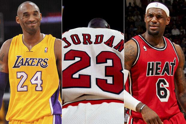 Kobe Bryant, Michael Jordan y LeBron James./ Getty Images