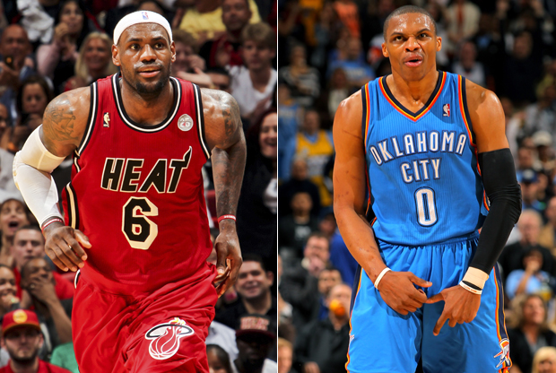 LeBron James y Russell Westbrook./ Getty Images