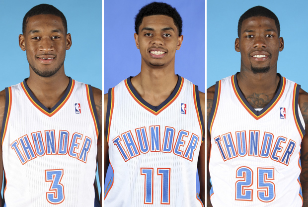 Perry Jones, Jeremy Lamb, DeAndre Liggins./ Getty Images