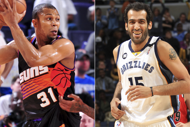Sebastian Telfair y Hamed Haddadi./ Getty Images