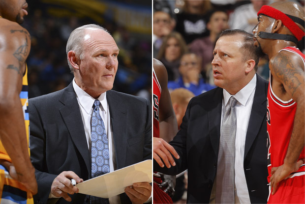 George Karl y Tom Thibodeau./ Getty Images