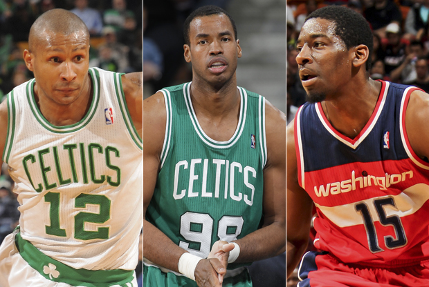 Leandro Barbosa, Jason Collins y Jordan Crawford./ Getty Images