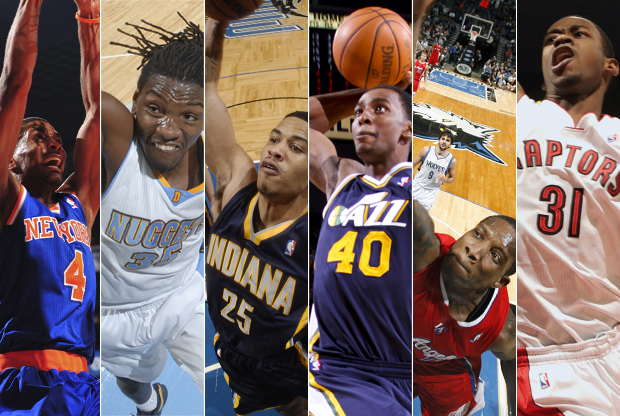 James White, Kenneth Faried, Gerald Green, Jeremy Evans, Eric Bledsoe y Terrence Ross./ Getty Images