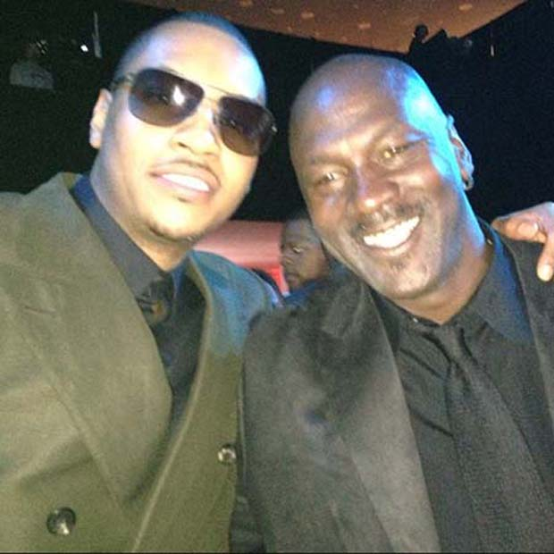 Carmelo Anthony y Michael Jordan