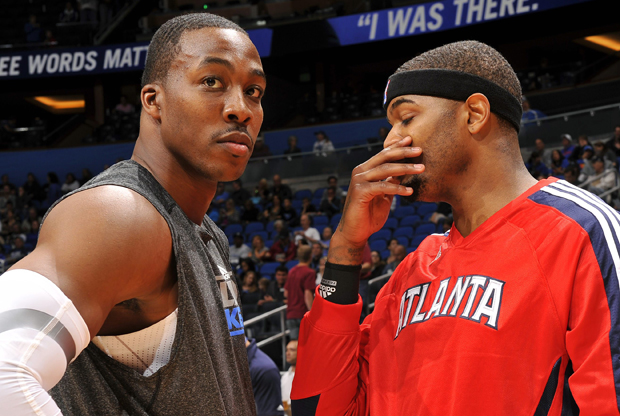 Dwight Howard y Josh Smith./ Getty Images