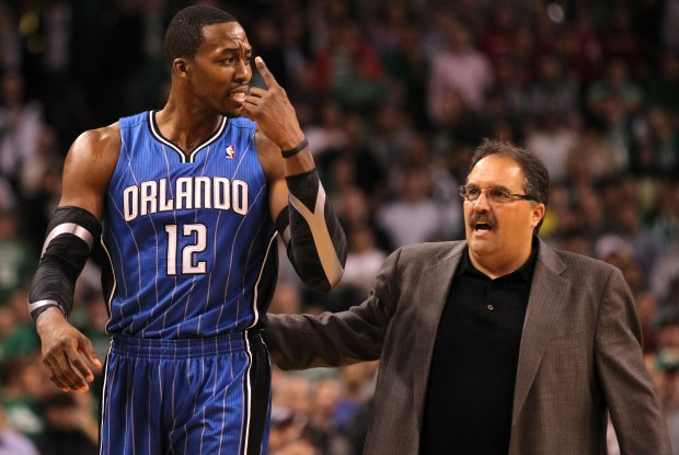 Dwight Howard y Stan Van Gundy./ Getty Images