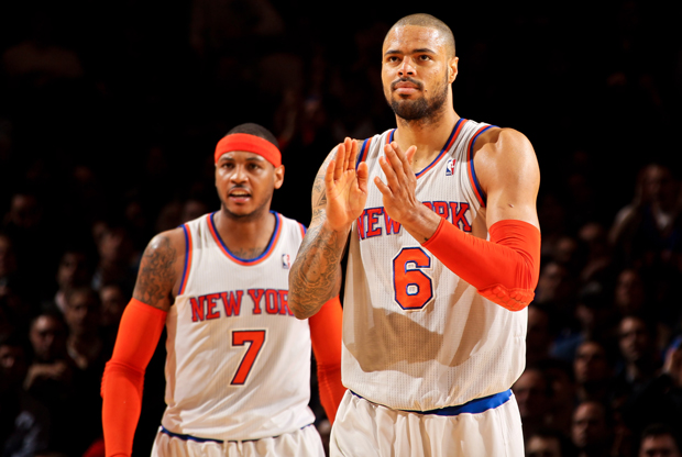 Carmelo Anthony y Tyson Chandler./ Getty Images