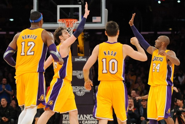 Dwight Howard, Pau Gasol, Steve Nash y Kobe Bryant./ Getty Images