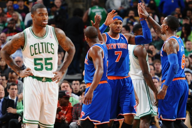 Boston Celtics vs. New York Knicks./ Getty Images