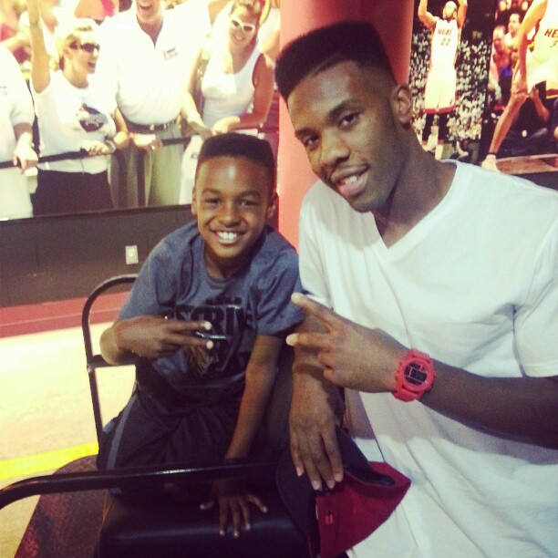 LeBron James Jr. y Norris Cole
